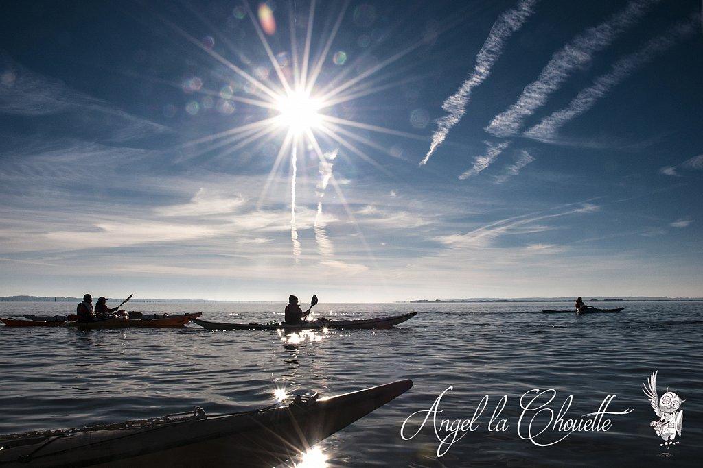Contre-jour en kayak